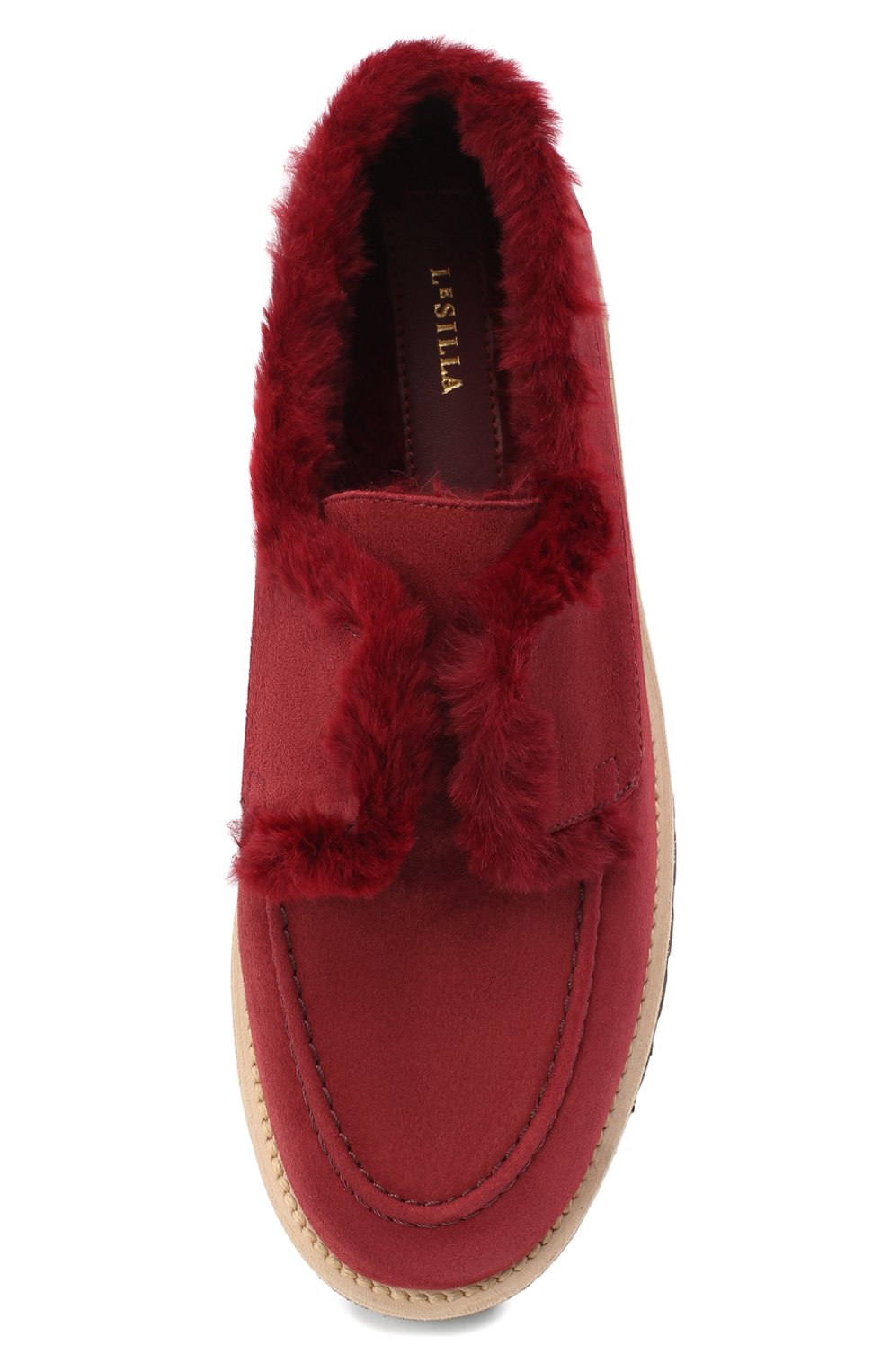 Женские замшевые ботинки LE SILLA бордового цвета, арт. 6183R020M1LLP0W | Фото 5