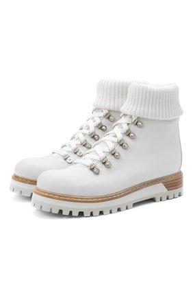 Женские кожаные ботинки LE SILLA белого цвета, арт. 7506R040M1PPCHI | Фото 1