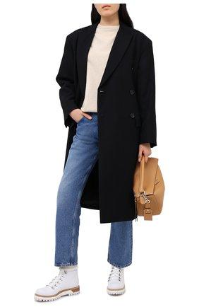 Женские кожаные ботинки LE SILLA белого цвета, арт. 7506R040M1PPCHI | Фото 2