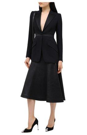 Женская замшевые туфли ALEXANDER MCQUEEN черного цвета, арт. 633501/WHR72 | Фото 2