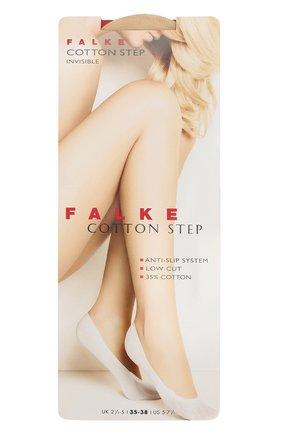 Женские подследники cotton step FALKE светло-бежевого цвета, арт. 44083 | Фото 1