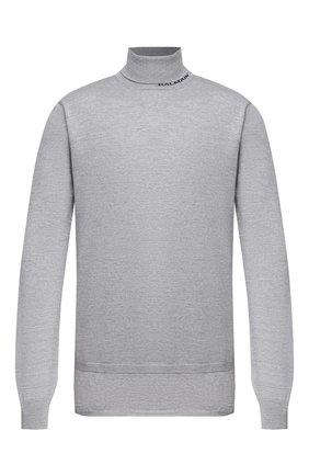 Мужской шерстяной свитер BALMAIN серого цвета, арт. UH13410/K010 | Фото 1