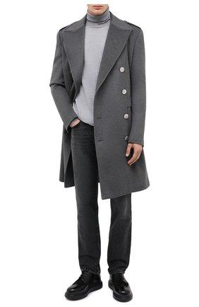 Мужской шерстяной свитер BALMAIN серого цвета, арт. UH13410/K010 | Фото 2