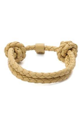 Мужской кожаный браслет BOTTEGA VENETA бежевого цвета, арт. 608671/V0010 | Фото 1