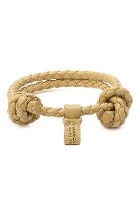 Мужской кожаный браслет BOTTEGA VENETA бежевого цвета, арт. 608671/V0010 | Фото 2