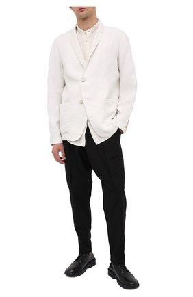 Мужской кожаные дерби MOMA черного цвета, арт. 2AW106-BT | Фото 2