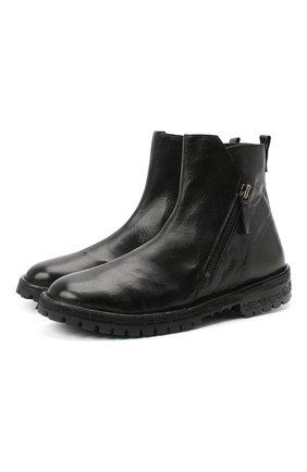 Мужские кожаные сапоги MOMA черного цвета, арт. 2CW150-BT | Фото 1
