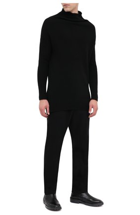 Мужские кожаные сапоги MOMA черного цвета, арт. 2CW150-BT | Фото 2