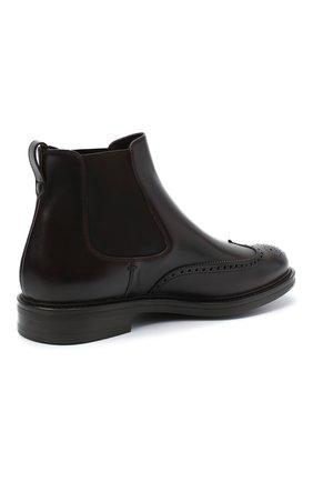 Мужские кожаные челси W.GIBBS темно-коричневого цвета, арт. 3169004/0214   Фото 4 (Материал внутренний: Натуральная кожа; Подошва: Плоская; Мужское Кросс-КТ: Сапоги-обувь, Челси-обувь)