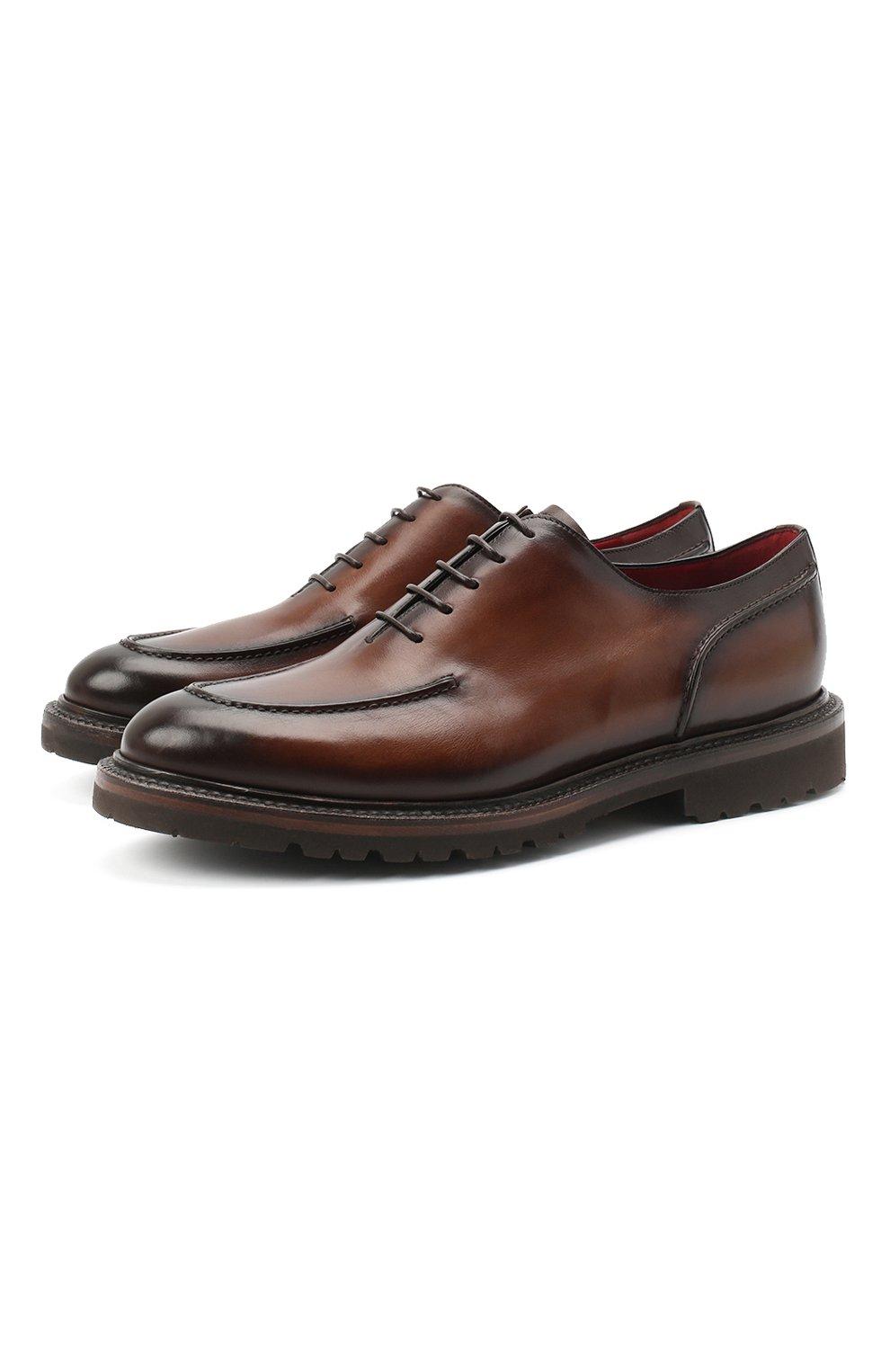 Мужские кожаные дерби BARRETT светло-коричневого цвета, арт. 202U029.2/BETIS CREAM | Фото 1