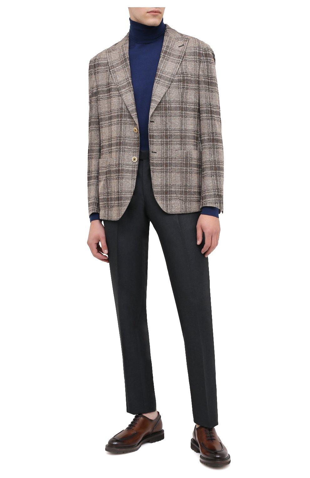 Мужские кожаные дерби BARRETT светло-коричневого цвета, арт. 202U029.2/BETIS CREAM | Фото 2