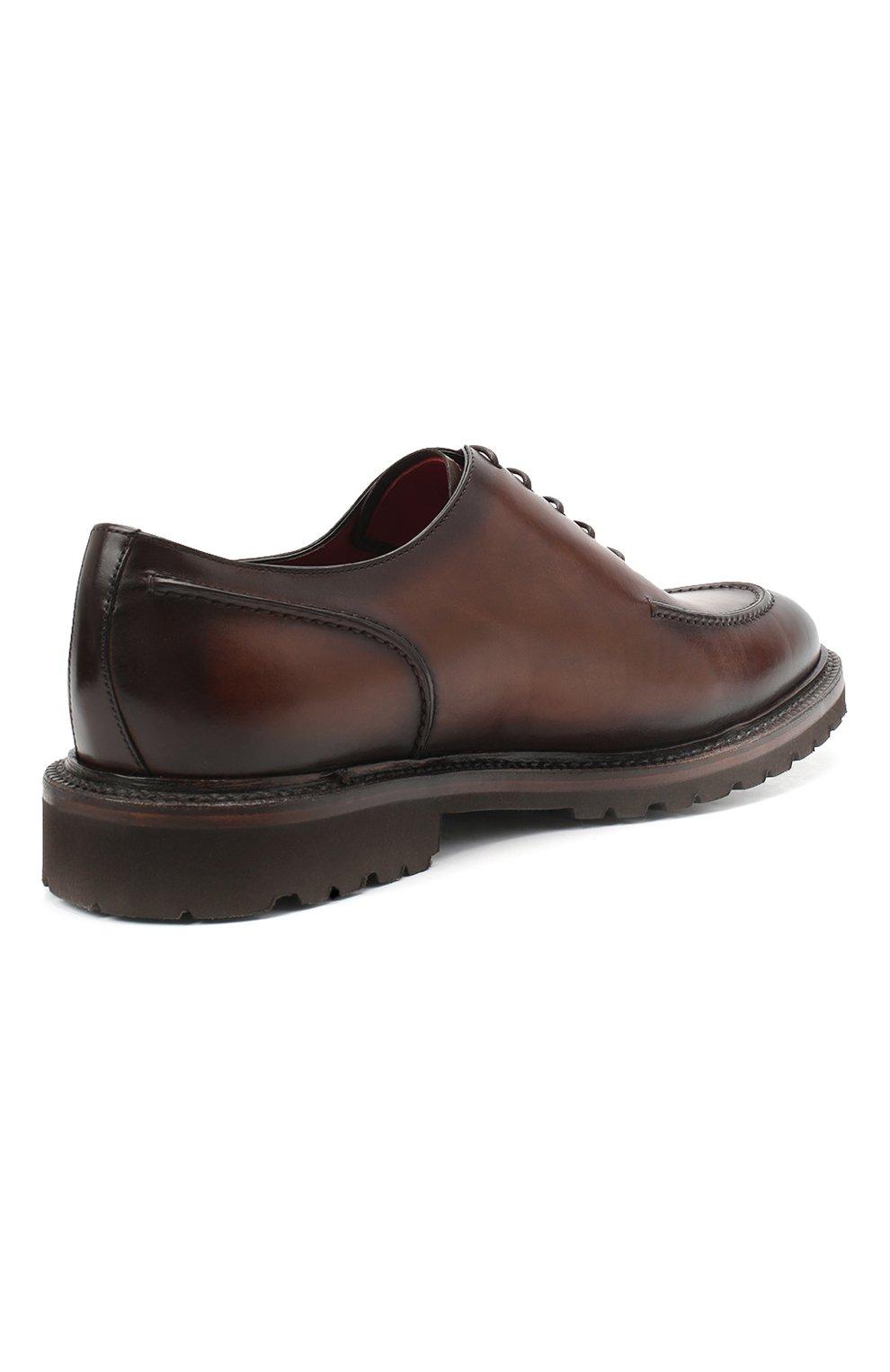 Мужские кожаные дерби BARRETT светло-коричневого цвета, арт. 202U029.2/BETIS CREAM | Фото 4
