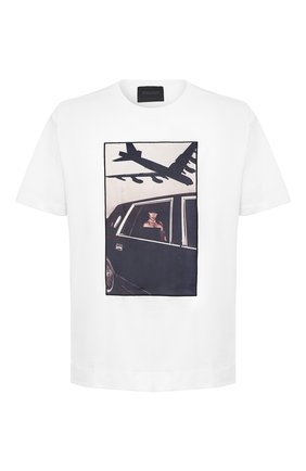 Мужская хлопковая футболка LIMITATO белого цвета, арт. HELL IS/T-SHIRT RELAX | Фото 1