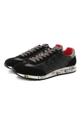 Мужские комбинированные кроссовки lucy PREMIATA черного цвета, арт. LUCY/VAR4932 | Фото 1