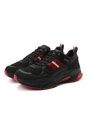 Мужские комбинированные кроссовки viber BALLY черного цвета, арт. VARUS-T/00 | Фото 1
