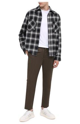 Мужские кожаные кеды maxim BALLY белого цвета, арт. MAXIM/07 | Фото 2 (Материал внутренний: Натуральная кожа; Подошва: Массивная)