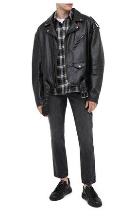 Мужские кожаные кеды maxim BALLY черного цвета, арт. MAXIM/00 | Фото 2