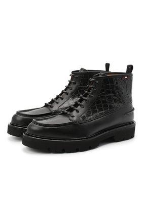 Мужские кожаные ботинки BALLY черного цвета, арт. LYSIUS/10 | Фото 1