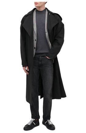 Мужские кожаные кеды helvio BALLY черного цвета, арт. HELVI0-NEW/600 | Фото 2
