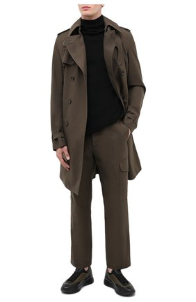 Мужские кожаные кроссовки bikki BALLY хаки цвета, арт. BIKKI/112 | Фото 2