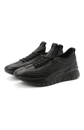 Мужские кожаные кроссовки bikki BALLY черного цвета, арт. BIKKI/00 | Фото 1