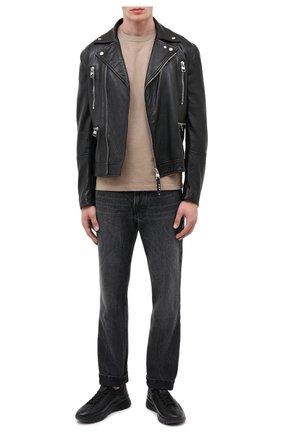 Мужские кожаные кроссовки bikki BALLY черного цвета, арт. BIKKI/00 | Фото 2