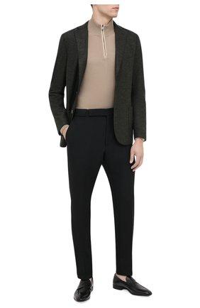 Мужские кожаные пенни-лоферы STEMAR черного цвета, арт. 228812/154/BUFAL0/NAPPA | Фото 2