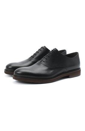 Мужские кожаные оксфорды MORESCHI черного цвета, арт. 43553/162/B0RG0GNA/F.NAPPA | Фото 1