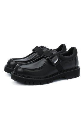 Мужские кожаные ботинки valentino garavani VALENTINO черного цвета, арт. UY2S0D60/YBH | Фото 1