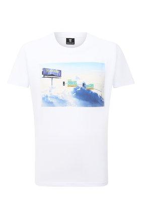 Мужская хлопковая футболка DIEGO VENTURINO белого цвета, арт. FW20-DV TS TLJ | Фото 1