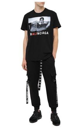 Мужская хлопковая футболка DIEGO VENTURINO черного цвета, арт. FW20-DV TSK MAC   Фото 2