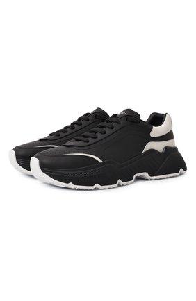 Мужские кожаные кроссовки daymaster DOLCE & GABBANA черно-белого цвета, арт. CS1791/AX589 | Фото 1