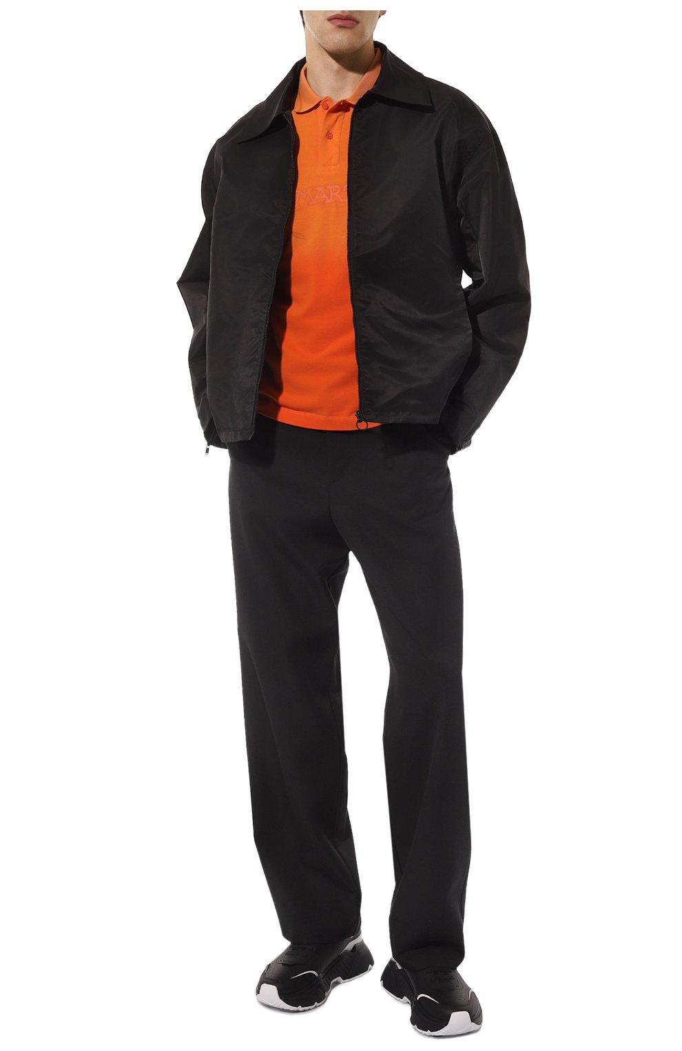 Мужские кожаные кроссовки daymaster DOLCE & GABBANA черного цвета, арт. CS1791/AX589 | Фото 2 (Материал внутренний: Натуральная кожа; Стили: Гранж; Подошва: Массивная)