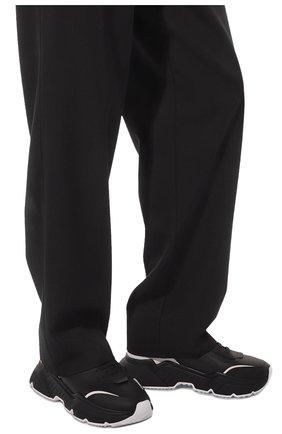 Мужские кожаные кроссовки daymaster DOLCE & GABBANA черного цвета, арт. CS1791/AX589 | Фото 3 (Материал внутренний: Натуральная кожа; Стили: Гранж; Подошва: Массивная)