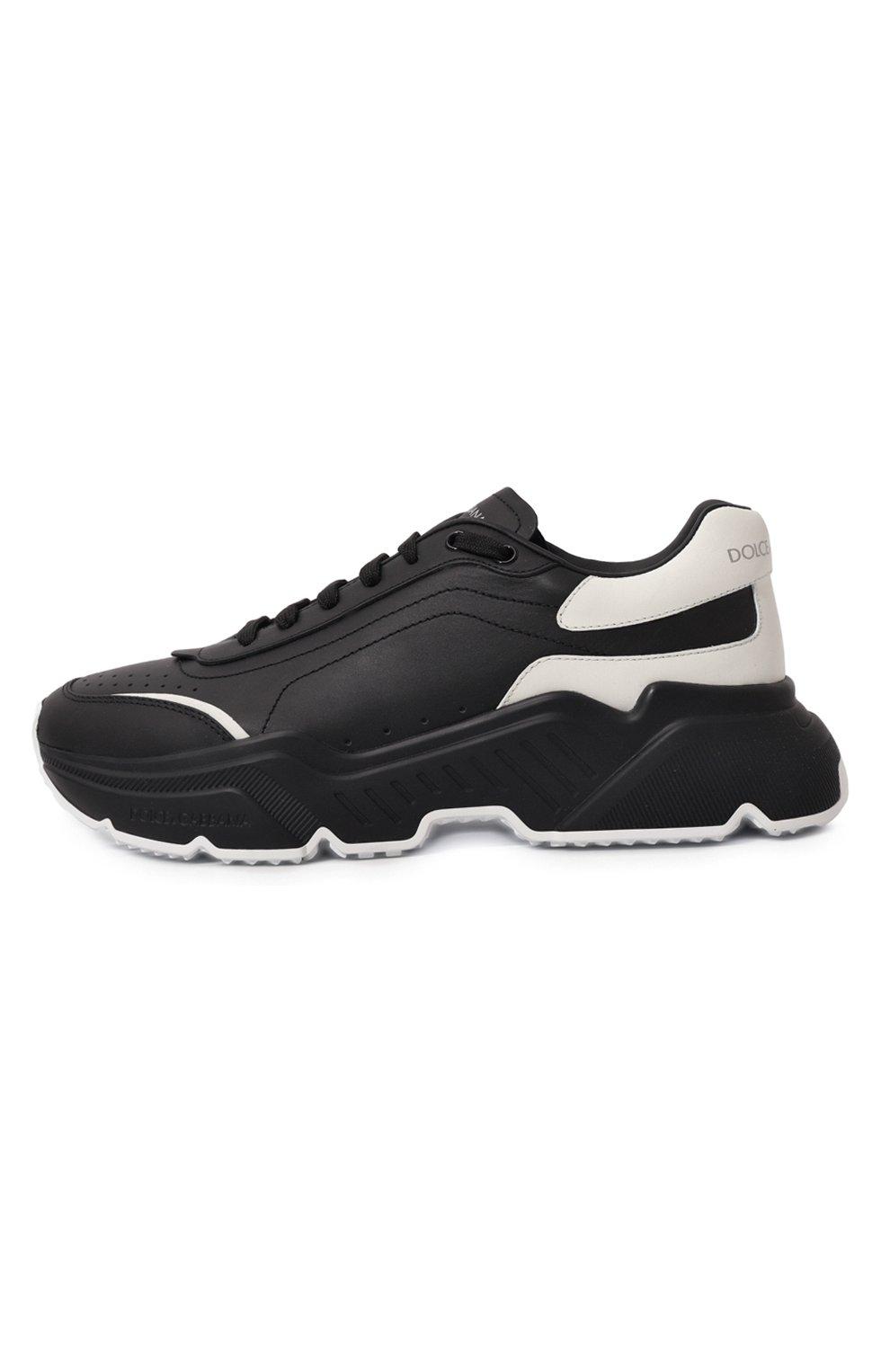 Мужские кожаные кроссовки daymaster DOLCE & GABBANA черного цвета, арт. CS1791/AX589 | Фото 4 (Материал внутренний: Натуральная кожа; Стили: Гранж; Подошва: Массивная)