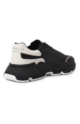 Мужские кожаные кроссовки daymaster DOLCE & GABBANA черного цвета, арт. CS1791/AX589 | Фото 5 (Материал внутренний: Натуральная кожа; Стили: Гранж; Подошва: Массивная)