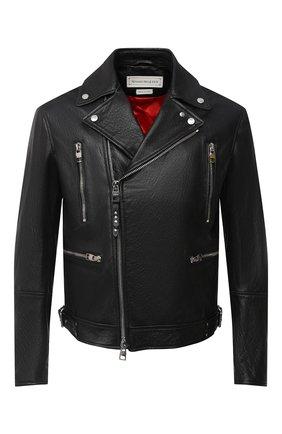 Мужская кожаная куртка ALEXANDER MCQUEEN черного цвета, арт. 626381/Q5LDS | Фото 1