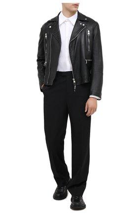 Мужская кожаная куртка ALEXANDER MCQUEEN черного цвета, арт. 626381/Q5LDS | Фото 2