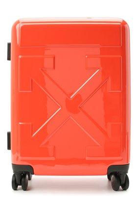 Мужской дорожный чемодан OFF-WHITE оранжевого цвета, арт. 0MNG006E20MAT0012500 | Фото 1