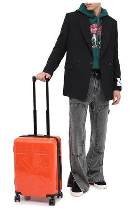 Мужской дорожный чемодан OFF-WHITE оранжевого цвета, арт. 0MNG006E20MAT0012500 | Фото 2