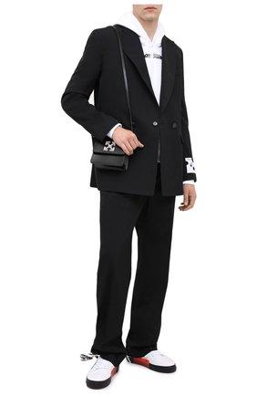 Мужская кожаная сумка OFF-WHITE черного цвета, арт. 0MNA111E20LEA0011000 | Фото 2