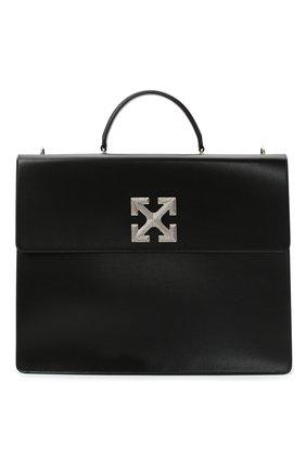 Мужская кожаная сумка OFF-WHITE черного цвета, арт. 0MNA105E20LEA0011000 | Фото 1