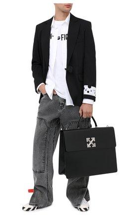 Мужская кожаная сумка OFF-WHITE черного цвета, арт. 0MNA105E20LEA0011000 | Фото 2