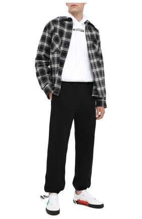 Мужская хлопковая рубашка OFF-WHITE черного цвета, арт. 0MGA133E20FAB0011010   Фото 2