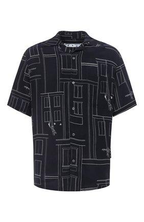 Мужская рубашка OFF-WHITE синего цвета, арт. 0MGA130E20FAB0024501 | Фото 1