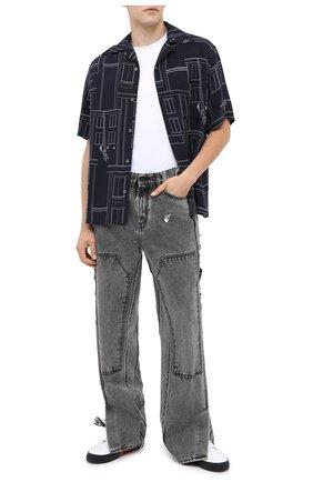Мужская рубашка OFF-WHITE синего цвета, арт. 0MGA130E20FAB0024501 | Фото 2