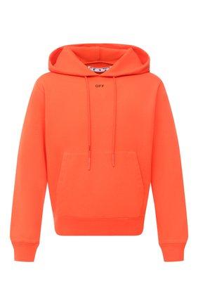 Мужской хлопковое худи OFF-WHITE оранжевого цвета, арт. 0MBB034E20FLE0042010   Фото 1