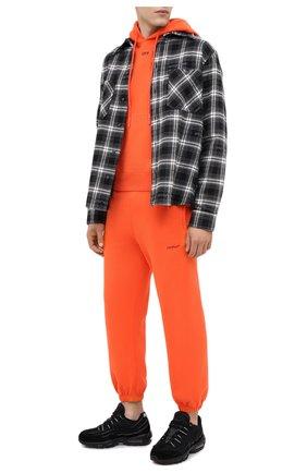 Мужской хлопковое худи OFF-WHITE оранжевого цвета, арт. 0MBB034E20FLE0042010   Фото 2