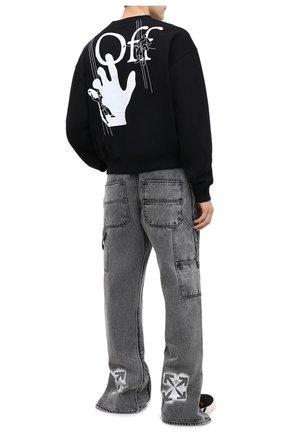 Мужской хлопковый свитшот OFF-WHITE черного цвета, арт. 0MBA035E20FLE0011001   Фото 2