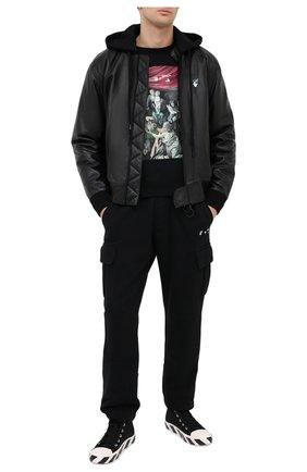 Мужской хлопковый свитшот OFF-WHITE черного цвета, арт. 0MBA025E20FLE0041010   Фото 2